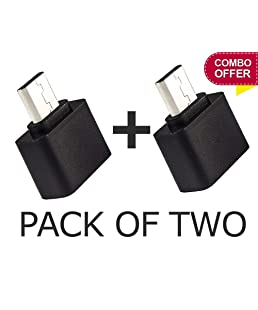 KNK Marketing Stylist Little OTG Adapter Micro USB OTG to USB 2.0 Adapter for Smartphones & Tablets - Set of 2 OTG