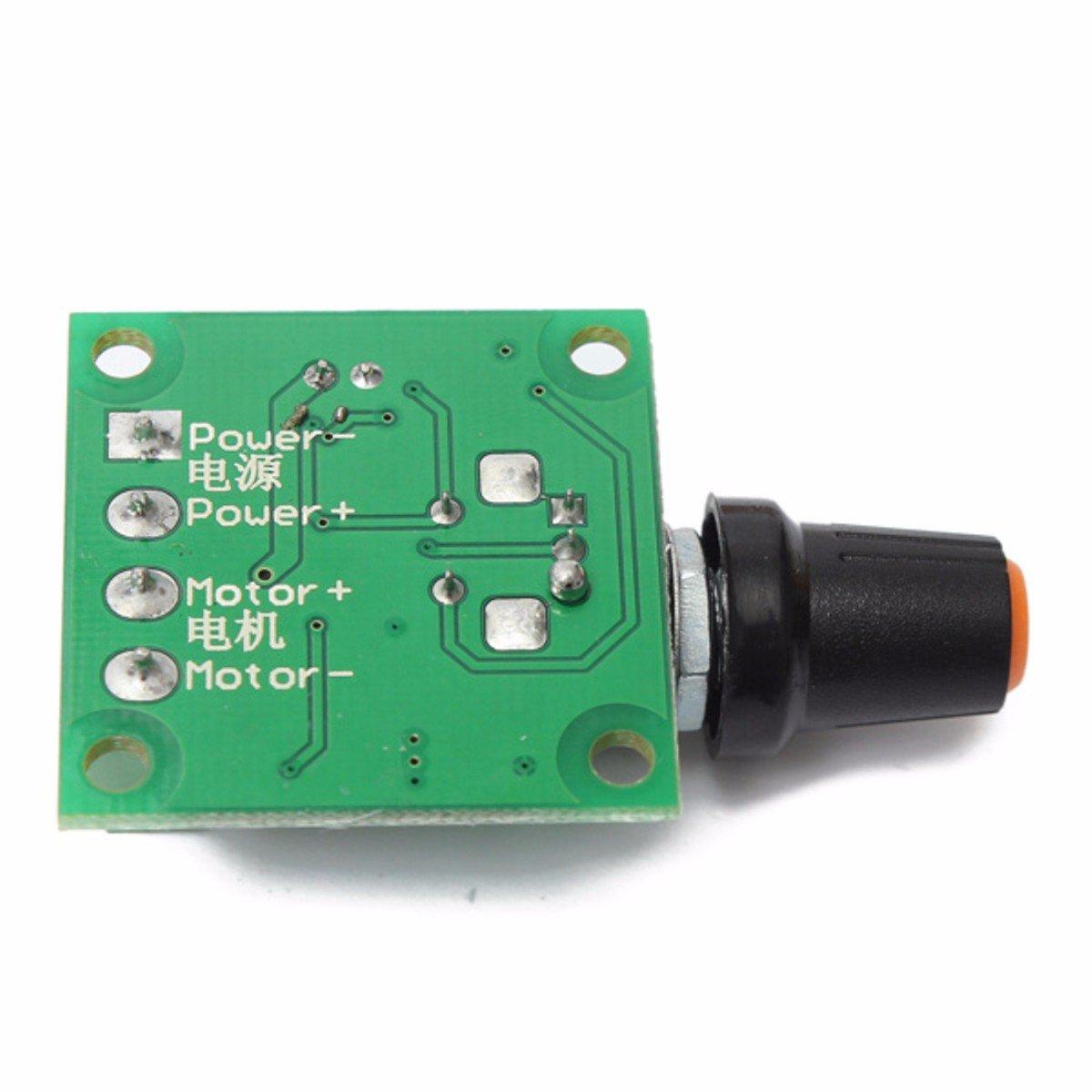 ELEGIANT/DC/1.8V/3V/5V/6V/12V/2A Controlador Motor/Regulador/de/Velocidad//PMW 1803B/30W/PWM/1803B/B1