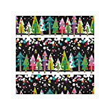 International Greetings Jumbo Roll Gift Wrapping Paper, Tree Line (96-9660)