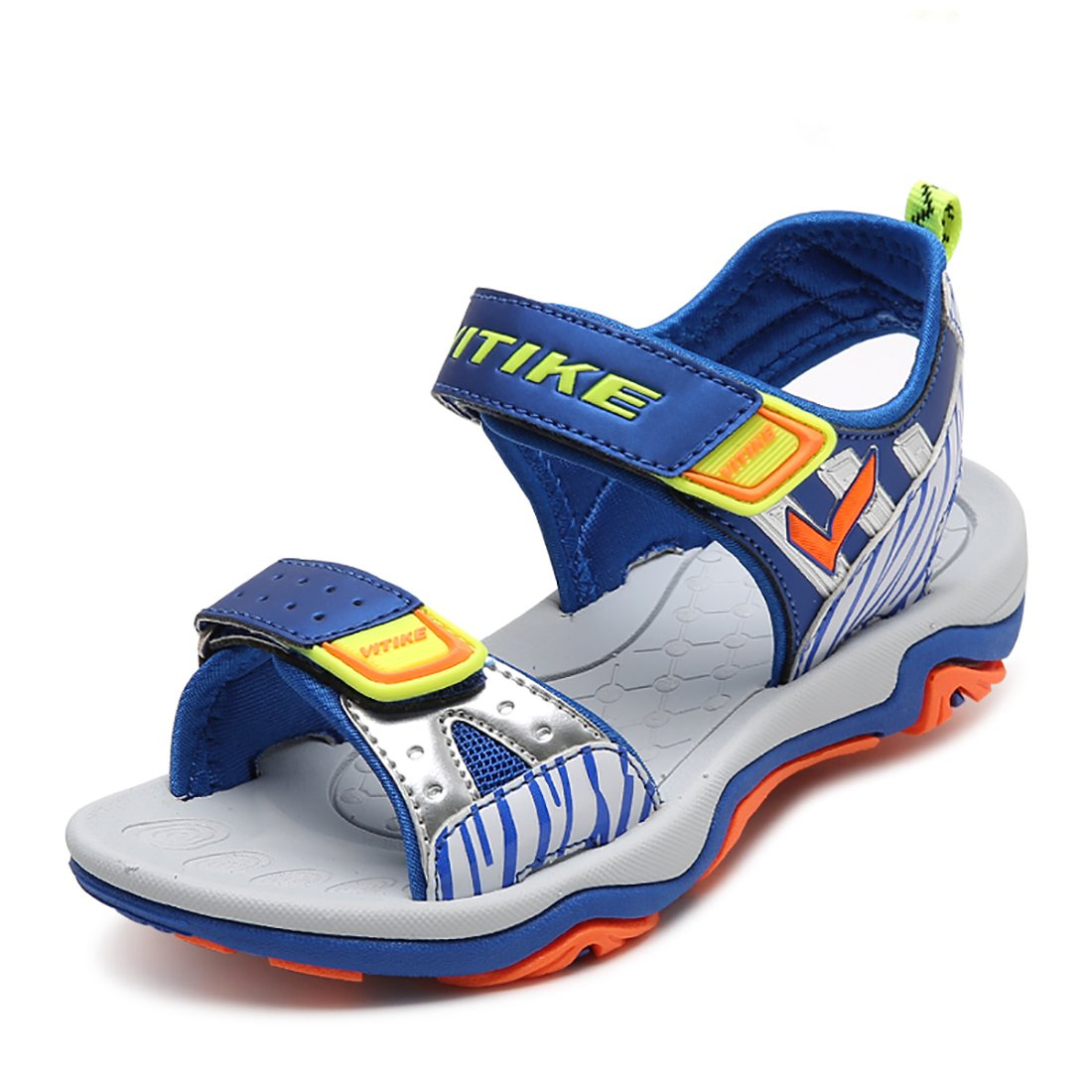 VITIKE Boys Sandals Little Kids Water Sandals for Summer(Little/Big Kids) (Big Kid 4M, Blue)