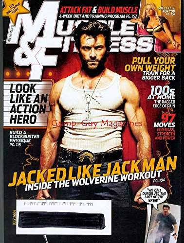 Muscle & Fitness July 2009 Hugh Jackman Hollywood - Rx Gunnar