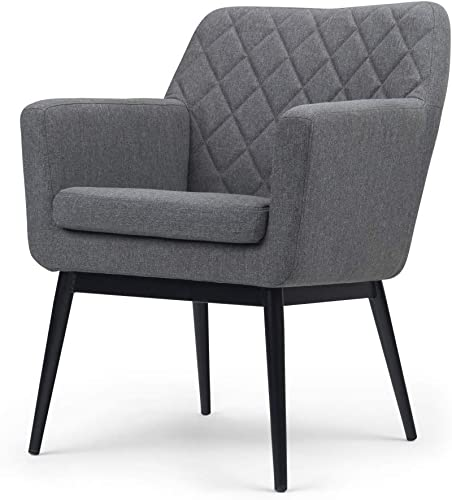 Editors' Choice: Simpli Home Alegra 27 inch Wide Mid Century Modern Quilted Back Accent Chair