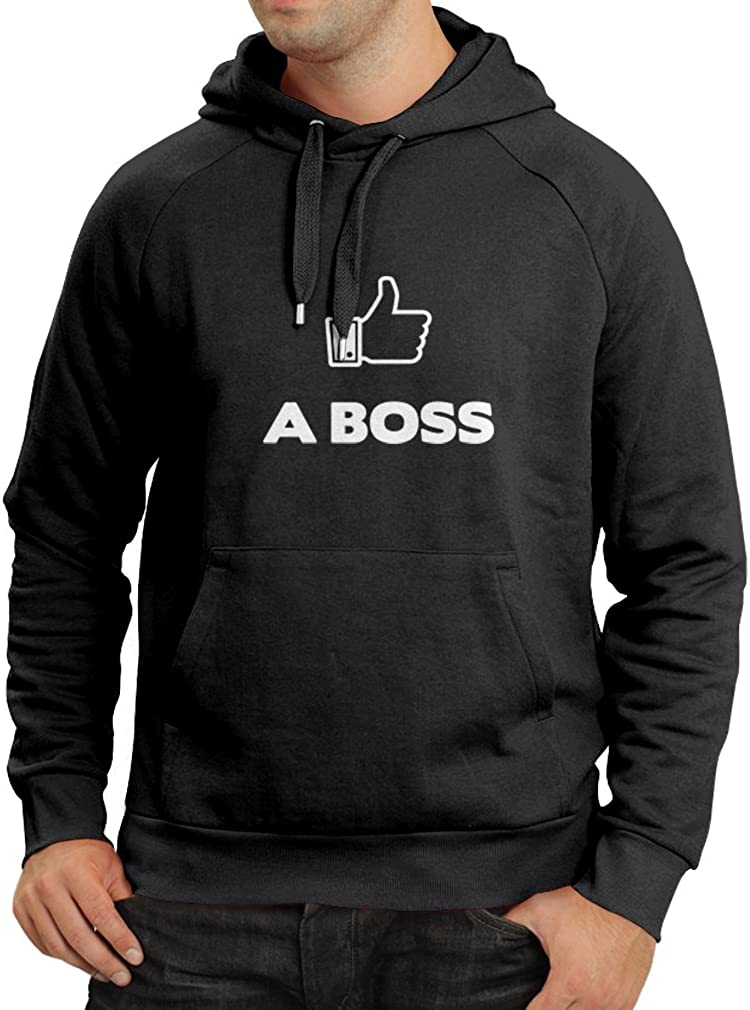 lepni.me Unisex Hoodie Like a Boss Funny Best Gift Ideas Parody Design Unique Gag Humorous Present