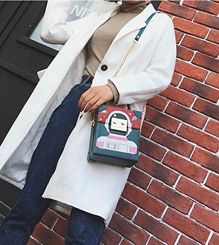 Mini Blue Cartoon Crossbody For Shoulder Handbag Bag Bag Robot Women Purse Fashion 4HSYq