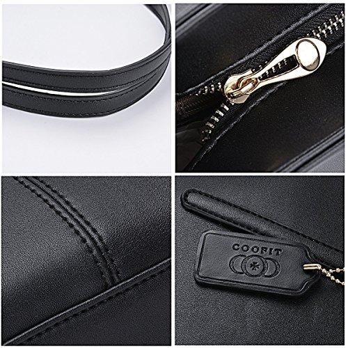 Fashion Shoulder Pendant Tote Handbag Purse Black Bag Womens Black Pendant Coofit Handbags Leather Messenger Women Ladies Bag Handbags Bag Large Designed 4YFExqw