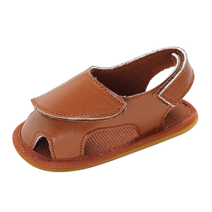 ae08c2a7d KONFA Toddler Infant Baby Boys Girls Closed-Toe Leather Sandals