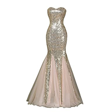 JASY Multi Style Rose Gold Sequined Mermaid Prom Dresses Long Bridesmaid Dresses for Women Available (