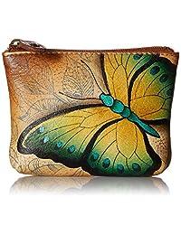 Anuschka Women's Leather Coin Purse   Genuine Soft Leather, Hand-painted Original Art