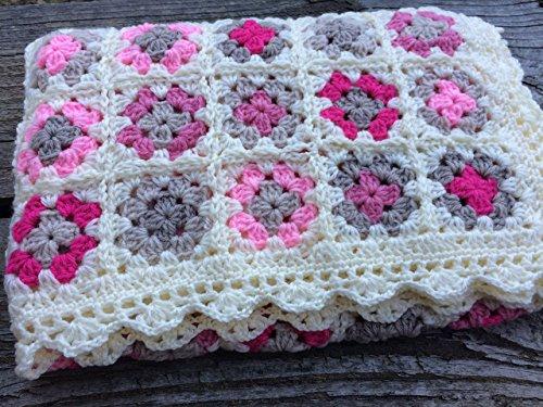 Hand Crocheted Baby Afghan - Baby Blanket. Crocheted Blanket. Baby Afghan. Granny Square Baby Blanket
