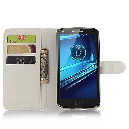 Ycloud Funda Libro para Motorola Moto Droid Turbo 2, Suave PU Leather Cuero con Flip
