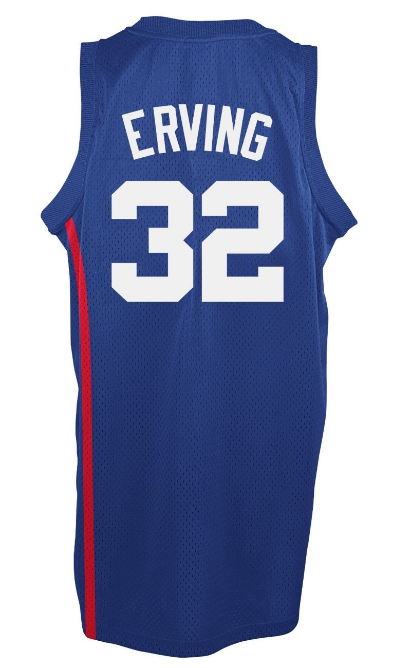 size 40 8d48b 77c0d adidas Julius Erving New York Nets NBA Throwback Swingman Jersey - Blue