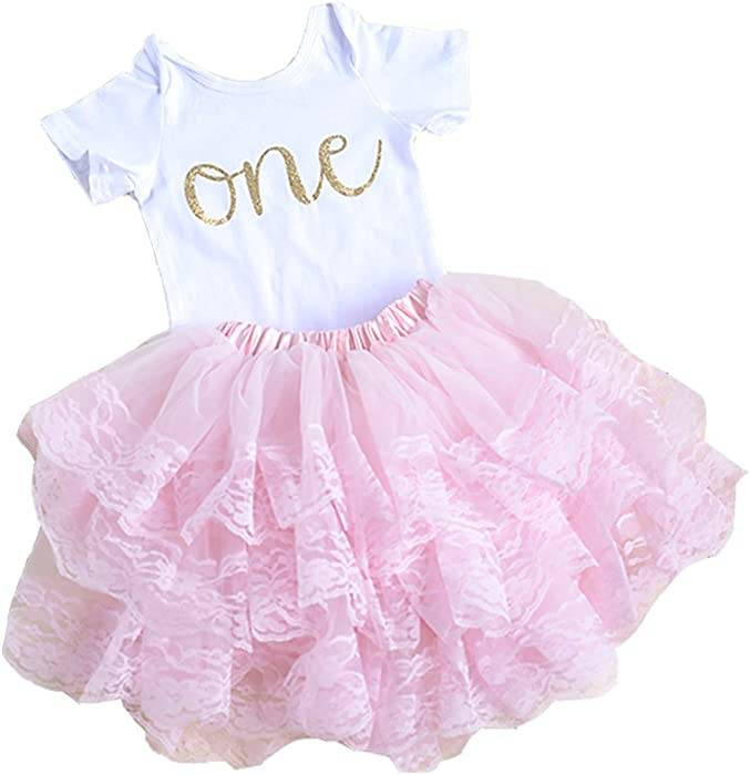 Pink First Birthday Outfit for Baby Girl, First Birthday Onesie Baby\u0027s  First Birthday