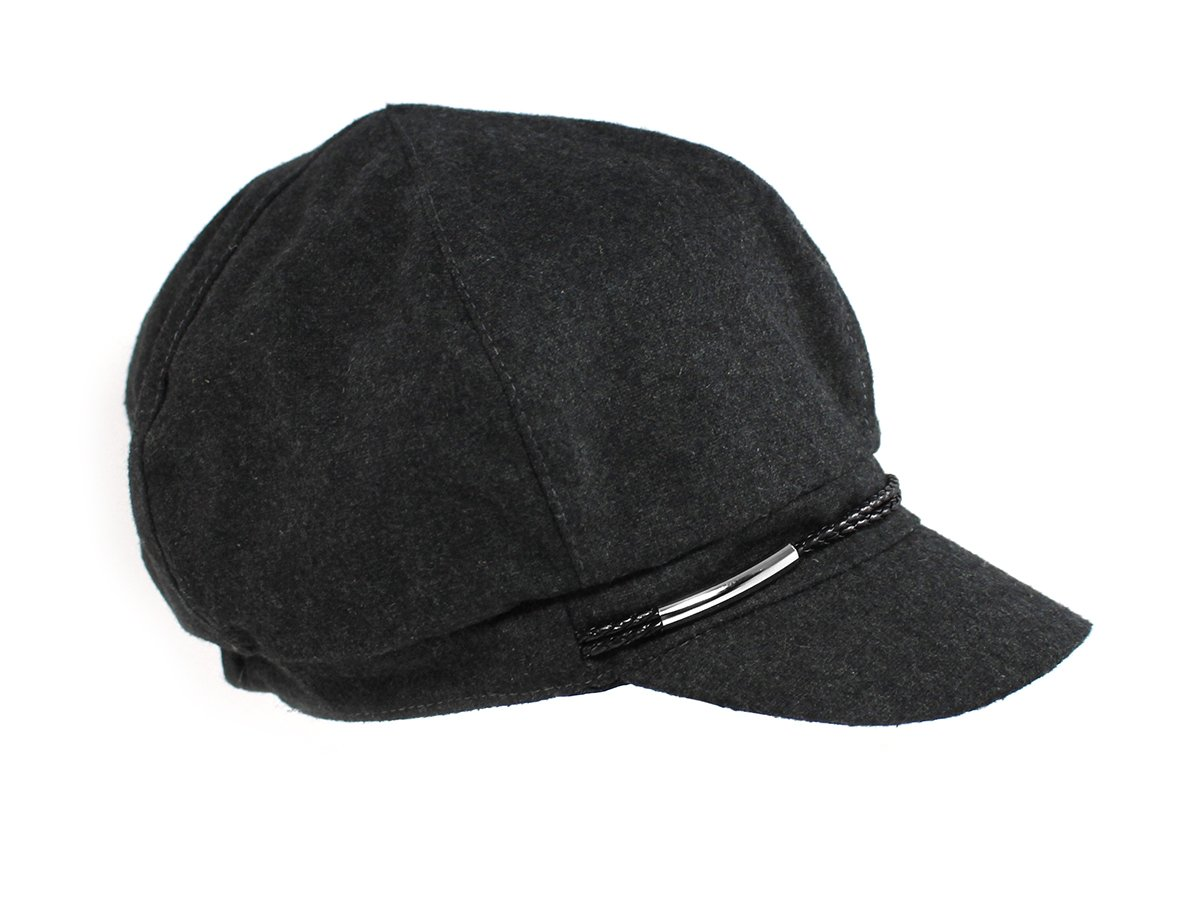 Nine West Women's Wool Blend Newsboy Cap One Size Grey