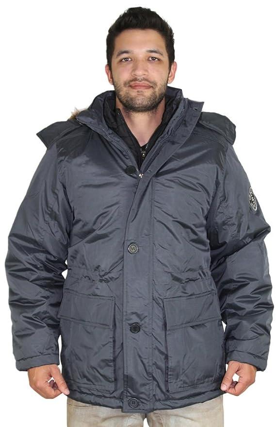 Canadá Weather Gear hombre sintética Down Parka chaqueta de ganso: Amazon.es: Ropa y accesorios
