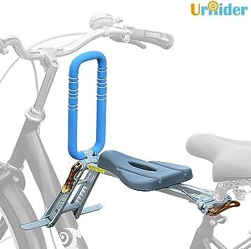UrRider Asiento de bicicleta para niños, portátil, plegable y ultraligero, portabicicletas para niños con pasamanos para bicicletas Cruiser, bicicletas plegables, bicicletas compartidas en la ciudad: Amazon.es: Deportes y aire libre