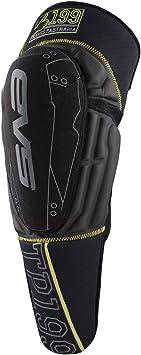 EVS Sports Unisex-Child Knee Pad (Black/Hi-Viz Yellow, Youth)