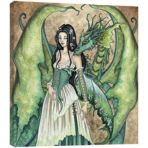 (Tree-Free Greetings Dragon Secrets EcoArt Wall Plaque, 11.2 x 0.5 x 11.2 Inches (AP83589))