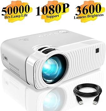 Amazon.com: DracoLight - proyector portátil pequeño de 3300 ...