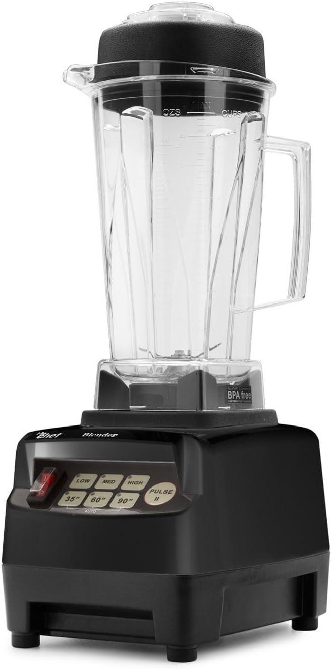 Batidora BioChef High Performance Blender – Batidora de vaso profesional 2L, 1600W, bajo consumo, BPA free. 10 años de garantía. (Negro)