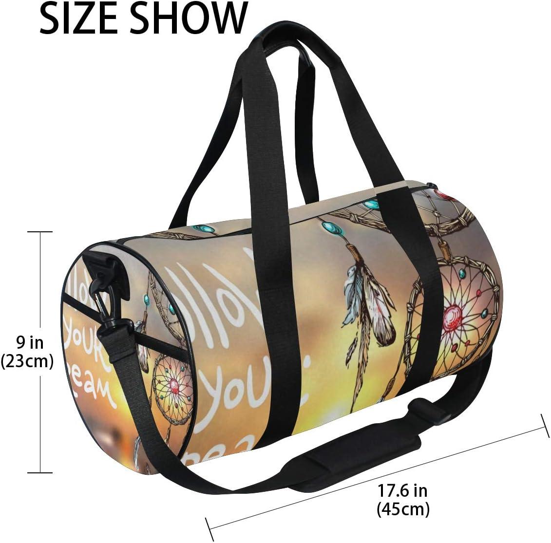 Duffel Bags Follow Your Dream Dreamcatcher Womens Gym Yoga Bag Small Fun Sports Bag for Men