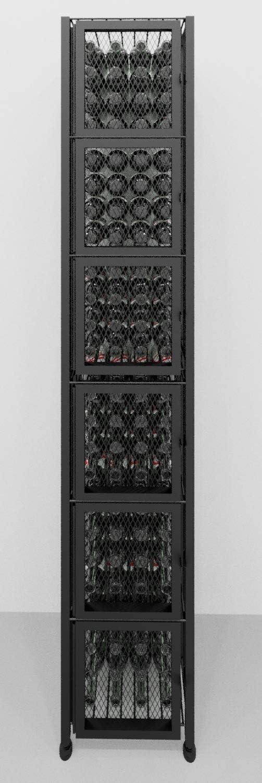 Vintageview Case Crate Series Locker 96 Bottle Floor Wine Rack Satin Black Stylish Modern Wine Storage With Label Forward Design Home Kitchen Amazon Com