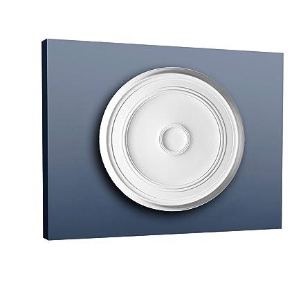 Rosetón Florón Elemento decorativo de estuco Orac Decor R76 LUXXUS para techo o pared de poliuretano