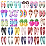 Best Barrettes For Toddlers - Choicbaby 60pcs Animal Hair Clips for Girls Metal Review