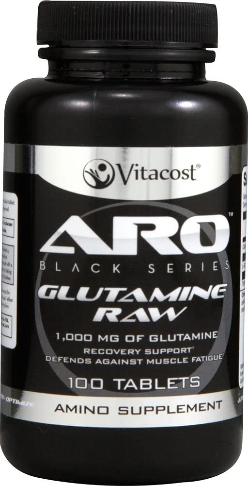 ARO-Vitacost Black Series Glutamine RAW — 1000 mg – 100 Tablets