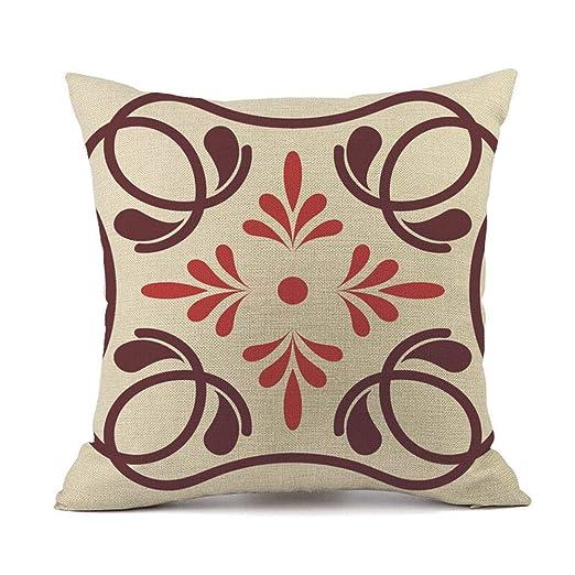 ZycShang Funda de almohada con patrones geométricos ...