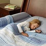 Set de 2 Protectores Barandillas Espuma Impermeable Seguro y Cómodo Cama Hipoalergénico Habitación Infantil Niños