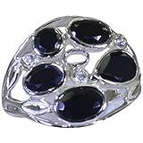 Riyo noire 925 bague en argent oynx noir accrocheur l'srbon80-6059 magasin de bijoux