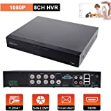 Evtevision 8CH 1080P防犯録画機 AHD DVR ビデオレコーダー AHD/TVI/CVI/CVBS/Onvif IP 5-in-1,最大8台カメラ搭載可 DVR/NVR/HVR防犯レコーダース 遠隔監視対応 日本語システム(HDDなし) P2P機能付き