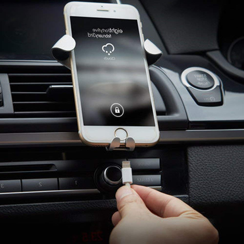 Black Samsung S8//S7//S6//Note 8 and Other Smartphones URUTOREO Universal Gravity Air Vent Phone Car Mount Holder Free Angle Rotation for Mobile Phone,XS MAX//X//8//7//6s//Plus//5S//4S