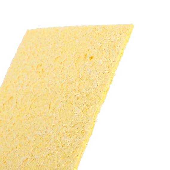 10pcs Esponja Limpieza para Soldadura Soldadura Soldador Esponja Estaño Amarillas: Amazon.es: Bricolaje y herramientas