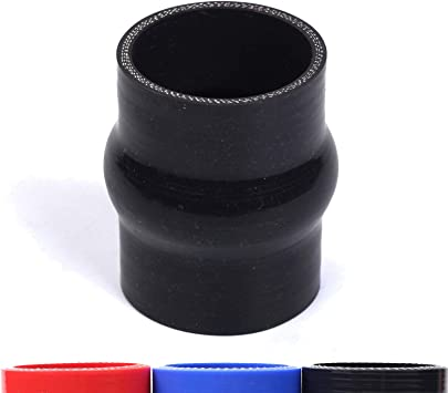 BLACKHORSE-RACING 3 Inch ID 12 Long 3-Ply Straight Silicone Hose Turbo//Intake//Intercooler Piping Tube Silicone Coupler Hose Pipe Black