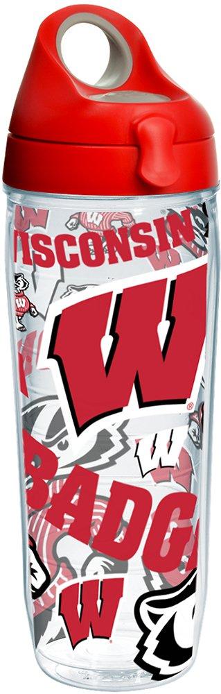 Tervis NCAA Wisconsin Badgers 24オンスウォーターボトル None B0772Q9112 マルチカラー None