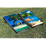 Tropical Beach Cornhole Game Set Version 1