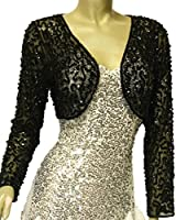 Alivila.Y Fashion Women Mesh Sequins Long Sleeve Bolero Shrug Jacket