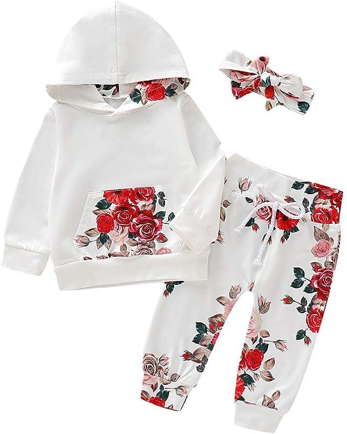 K-Youth Chandal Bebe Ni/ña Conjunto Bebe Ni/ño Navidad Floral Reborn Abrigo Ni/ños Deportes Sudadera Invierno Ropa Bebe Recien Nacido Camisetas Ni/ñas Oto/ño Tops Unisex Pantalones