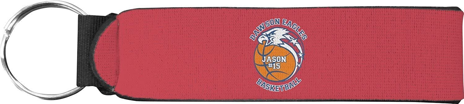 Dawson Basket Ball Keychain Fob (Personalized)