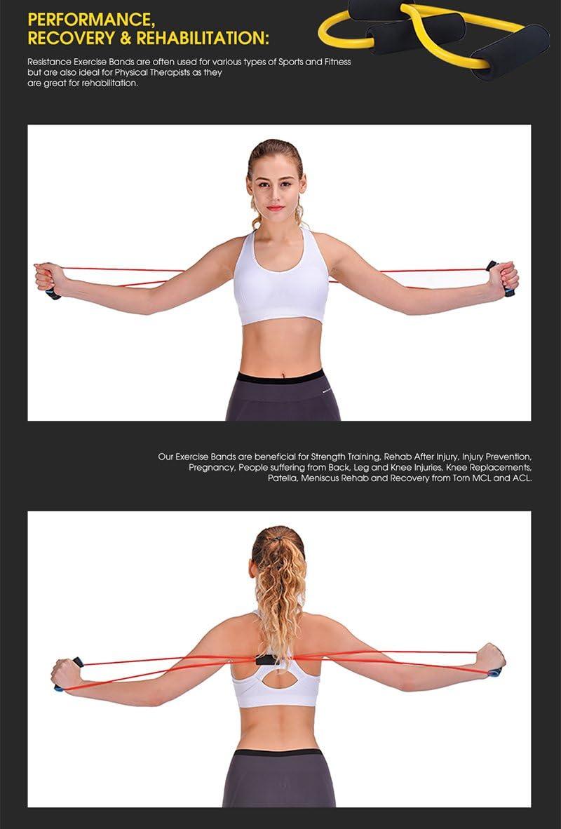 Amazon.com: Figura 8 tóner ejercicios de resistencia pcs ...