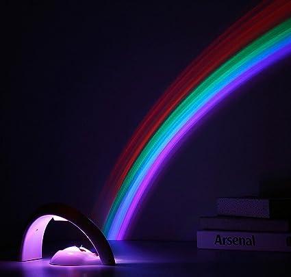 Amazon com: LED Magic Romantic Rainbow Fluorescent Light