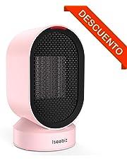 Iseebiz Mini Calefactor Eléctrico, Termoventilador Calefactor Portatil Calefactor Cerámico Viento Caliente y Natural Apto para