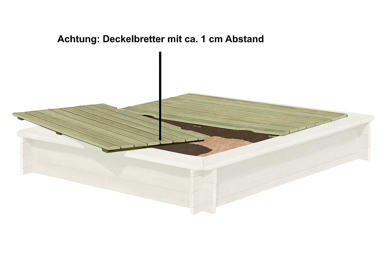 Gartenpirat Sandkasten aus Rundholz Sandkasten Holz