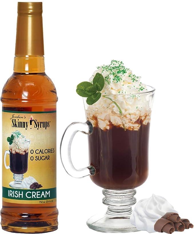 Jordan S Skinny Syrups Sugar Free Irish Cream Coffee Syrup Healthy Flavors With 0 Calories 0 Sugar 0 Carbs 750ml 25 4oz Bottles Pack Of 6