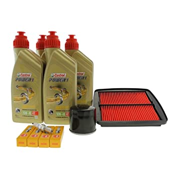 Kit de mantenimiento 10 W-50 de 40, filtro de aceite, filtro de aire y Bujía para Suzuki GSF 600 Bandit: Amazon.es: Coche y moto