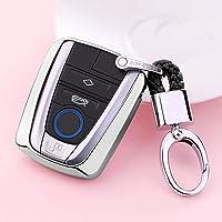 QRSLHYA Soft TPU Car Key Case Cover,For BMW I3 I8 Series Car Styling Key Shell Keychain Ring Accessories