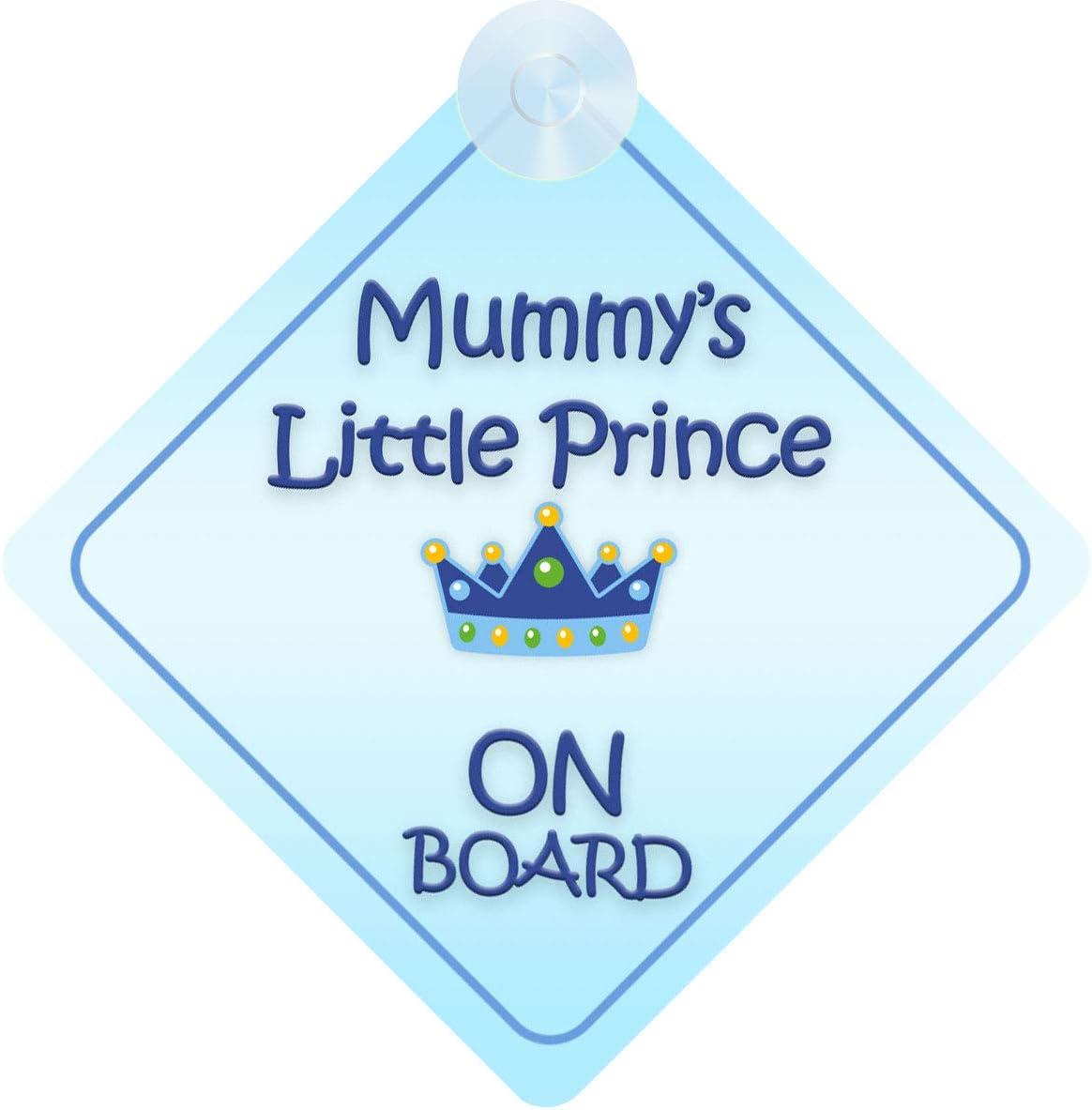 Autoschild Mit Aufschrift Mummy S Little Prince On Board Für Kinder Jungen Nicht Personalisierbar Charaktermotiv Auto