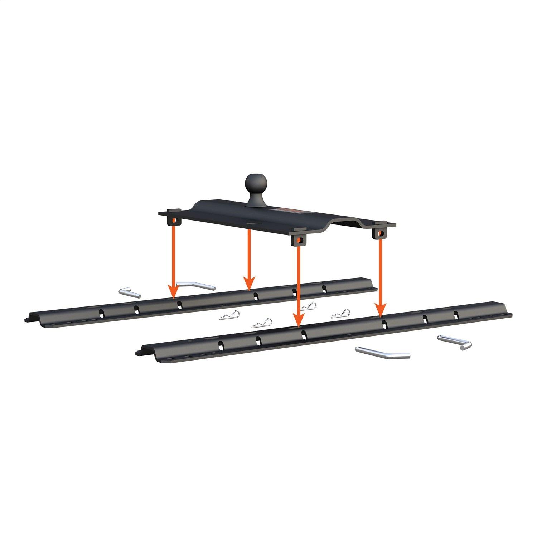 Curt 16055 Rail Mounted Gooseneck Hitch Amazon Canada 4way Round To Flat Trailer Wire Adapter Sharptruckcom