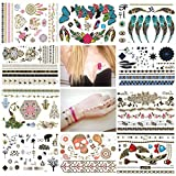 NUOLUX Temporary Tattoos Flash Tattoos 10 Sheets Waterproof